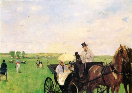 Degas, Edgar: At the Races in the Countryside. Fine Art Print/Poster. Sizes: A4/A3/A2/A1 (001374)